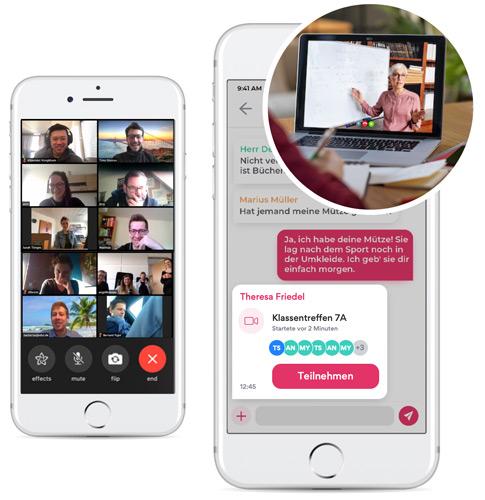 Videotelefonie für Schulen und Klassenkonferenzen