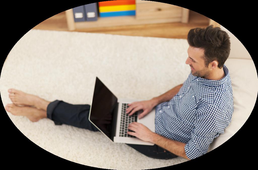 Mann Schulung Online Laptop